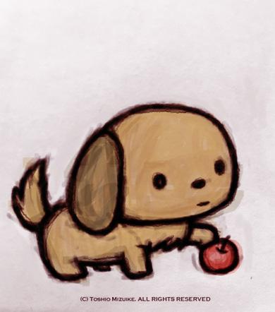 犬 イラスト 子犬イラスト 制作 Illustrator イラストレーター