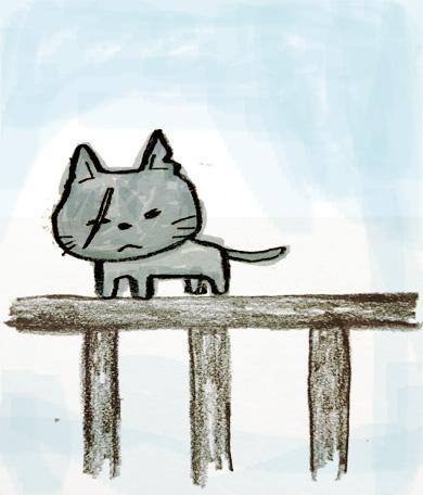 岩合光昭 野良猫 ベランダ イラスト