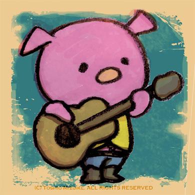 kobuta  子豚バンド こぶたイラスト