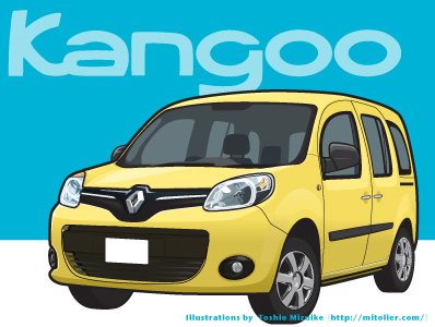 kangoo  ルノー カングー イラスト Illustrator 仏自動車