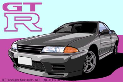 GT-R32  NISSAN  Illust SKYLINE