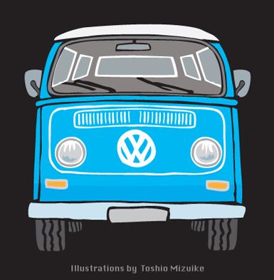 ワーゲンバス2 volkswagen type2 イラスト Illust