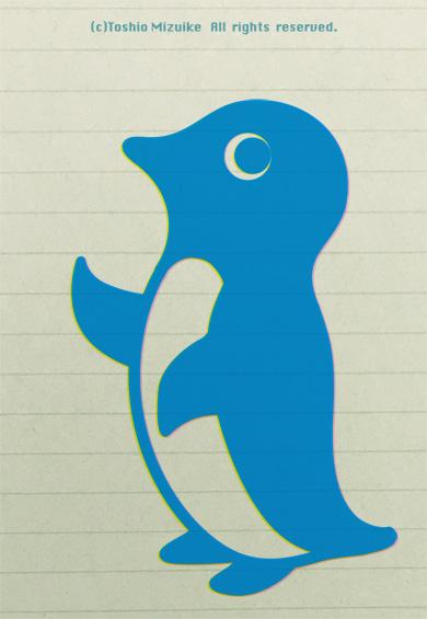 ペンギン マーク ロゴ かわいい