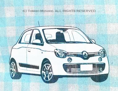 ルノー トゥインゴ  twingo  Illustrator イラスト