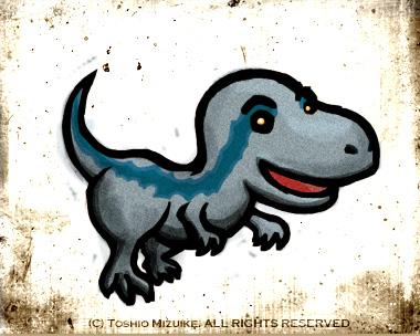 ジュラシックワールド ブルー イラスト 恐竜