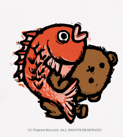 熊のバックドロップ
