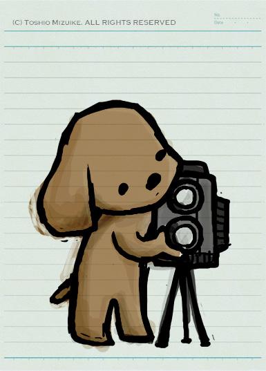 クラシックカメラ 犬