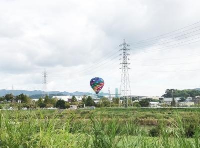 気球 羽曳野 古墳群