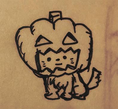 カボチャ犬 ハロウィン