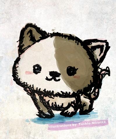 猫のイラスト ネコイラスト 猫絵  cat japan