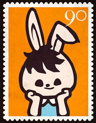 切手デザイン うさぎ