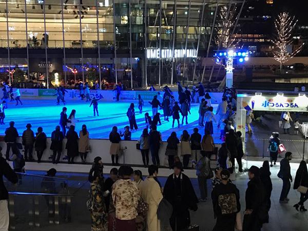 グランフロント大阪 つるんつるん スケートリンク アイススケート 大阪 梅田