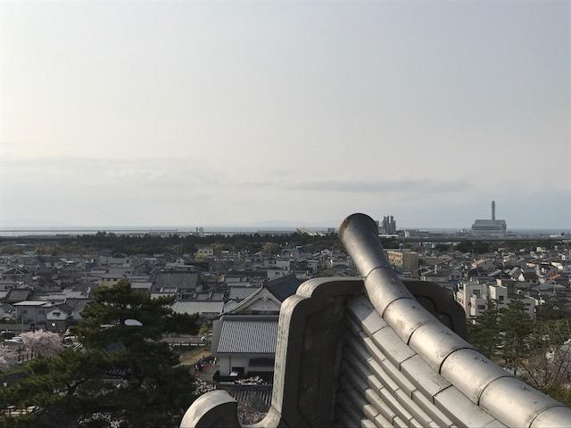 岸和田城 天守閣から 眺め 展望