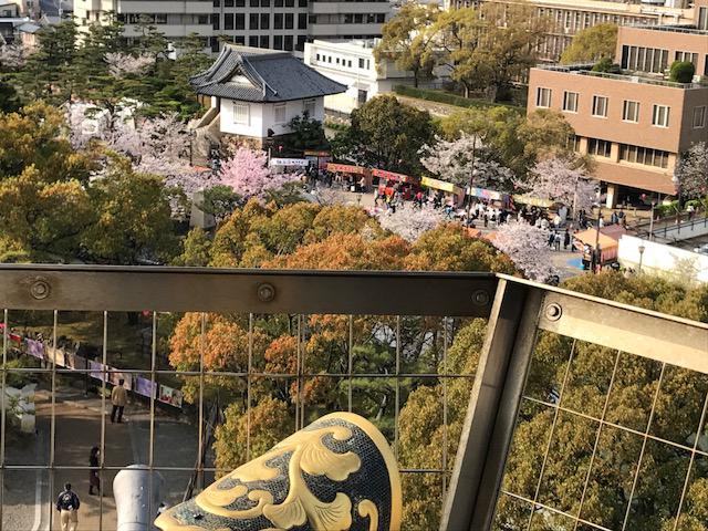 岸和田城 天守閣からの 眺め 展望