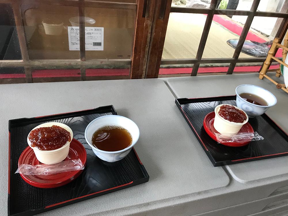 川崎東照宮の神輿蔵 梅ジャムアイス