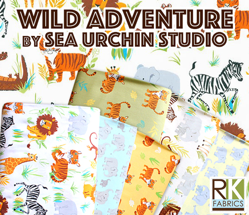 Robert Kaufman Wild Adventure Collection by Sea Urchin Studio