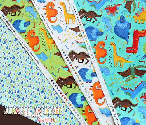 Moda Fabrics Jurassic Jamboree Collection by Abi Hall