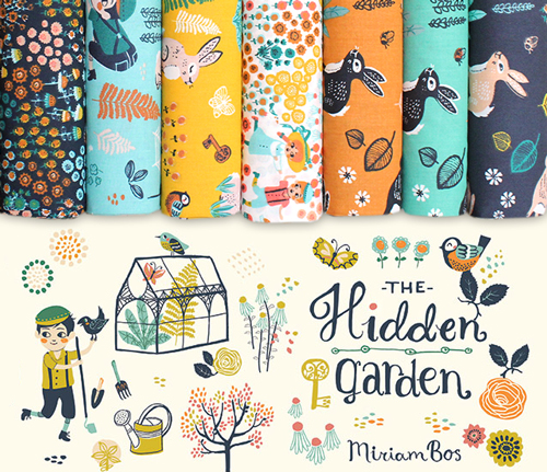 Birch Fabrics The Hidden Garden Collection by Miriam Bos