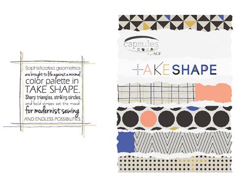 Art Gallery Fabrics TAKE SHAPE Look Book