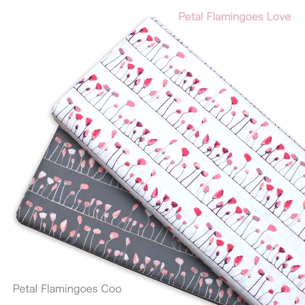Art Gallery Fabrics Wonderland Petal Flamingoes