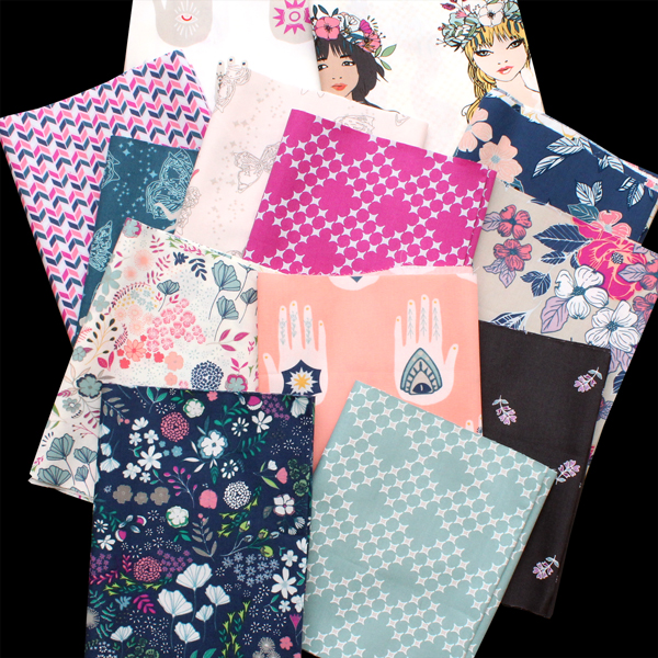 Art Gallery Fabrics Flower Child Collection