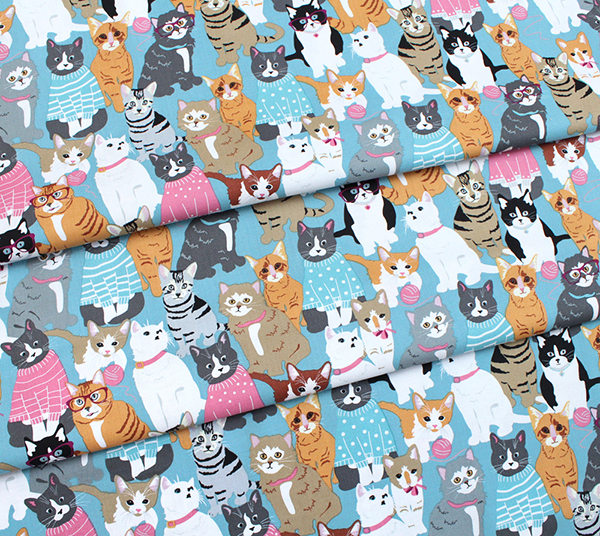 Studio E Fabrics Cattitude 4063-11 Packed Cats