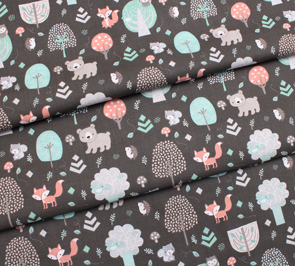 3 Wishes Fabric Little Forest 12948-BROWN