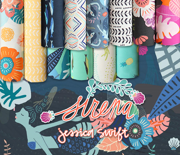 Art Gallery Fabrics Sirena Collection by Jessica Swift
