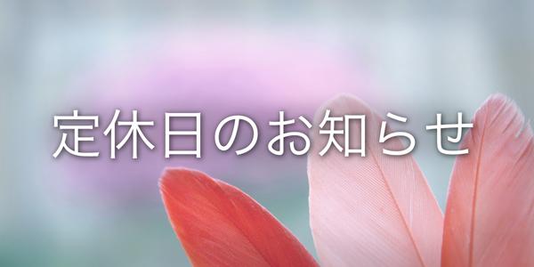 6月16日(土)・17日(日) 定休日のお知らせ