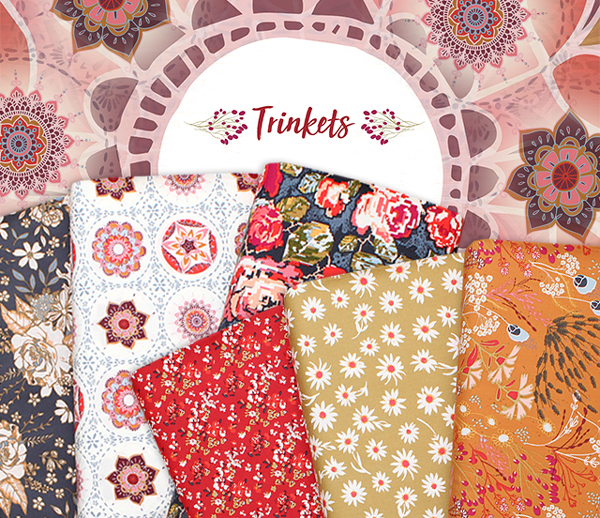 Art Gallery Fabrics Trinkets Fusion Collection by AGF Studio