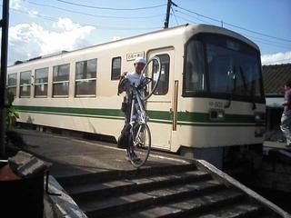 自転車を列車内に持ち込める