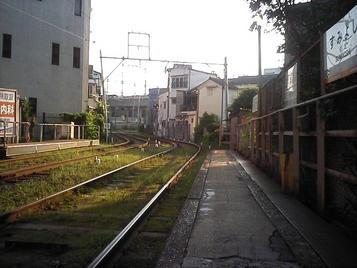 阪堺上町線・住吉停留所(上り)