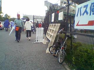 スタジアム横に駐輪