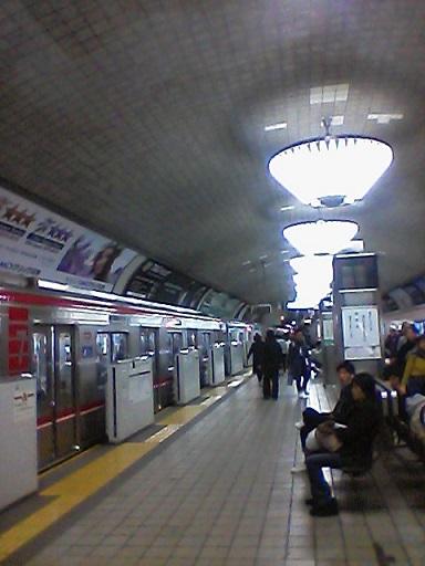 心斎橋駅ホーム