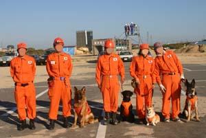 救助犬チーム