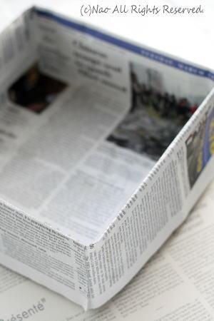 新聞紙の型