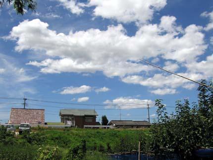 雲と空が綺麗