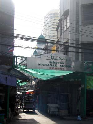モスクのある通り