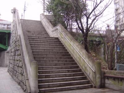 目白坂となり階段