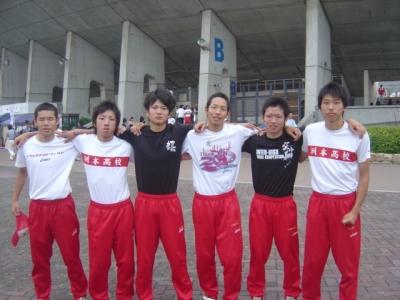 洲本高校4×400mリレーメンバー