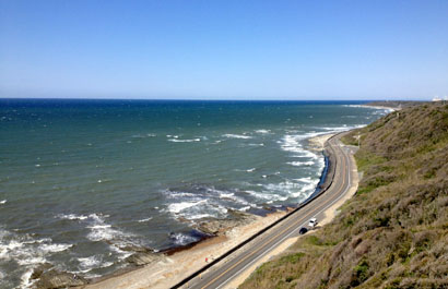 御前埼灯台上からの海