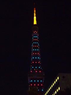 東京タワー週末照明2