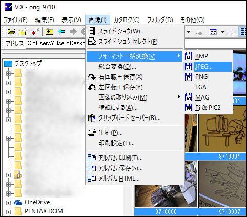 VIXでCASIO画像変換