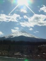 まさにそそり立つ富士山