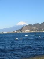 海は大荒れだったが富士山が絶景