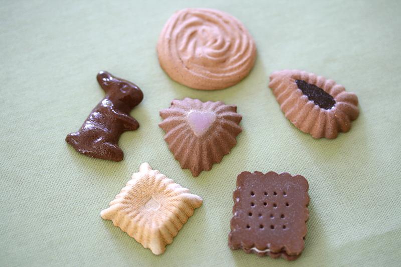 クッキー風な陶器の素焼き
