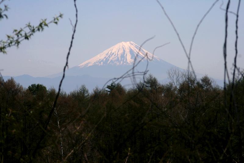 八ヶ岳牧場(本場)からの富士山