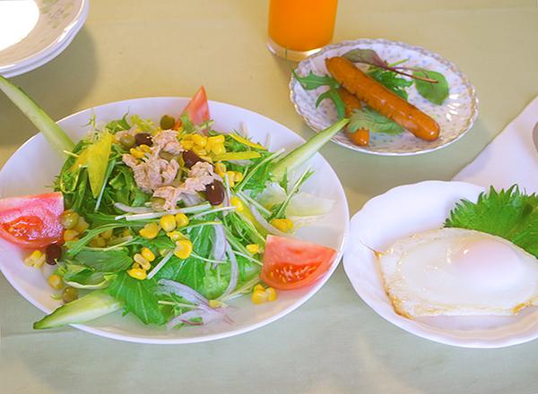 今朝(2/26)の朝食