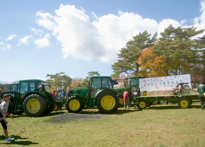 グリーンの農業用車