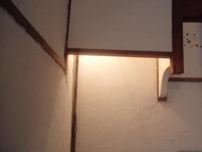 手作りの白壁